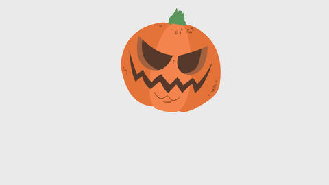 Cartoon Pumpkin Element - Jumping Animation