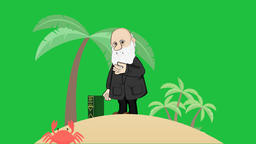 Darwin on Beach (Green Screen): Loop + Matte Animation