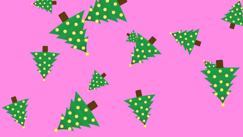 New Year Christmas tree animation banner CG動画素材