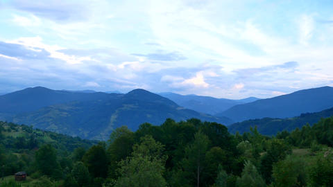 View of clouds from high mountain Mountain panorama over... Stock Video Footage