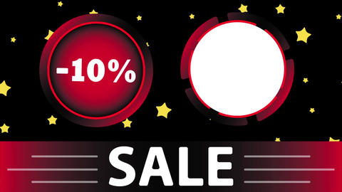 Red sale 10 percent and star Animation