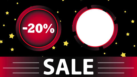 Red sale 20 percent and star Animation