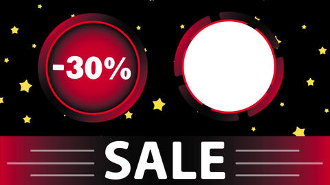 Red sale 30 percent and star Animation