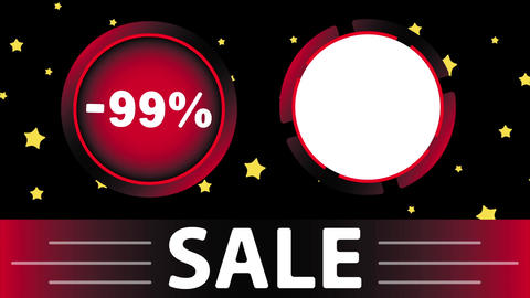 Red sale 99 percent and star Animation