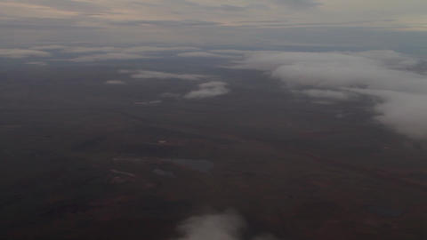 Khakassia.Kyzyl.The plane flies over the ground.The plane flies over the Live Action