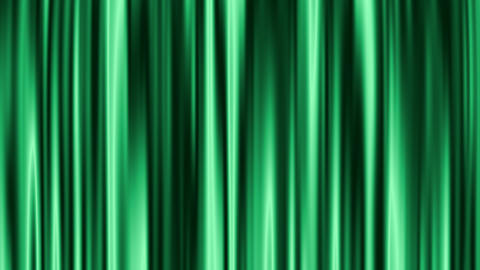 Curtain open - Green (with alpha) Stock Video Footage