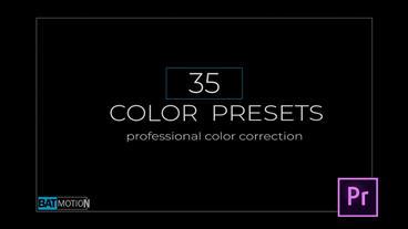 Rainbow Color Presets Premiere Pro Template
