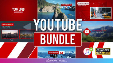 Youtube Bundle – After Effects Template After Effectsテンプレート