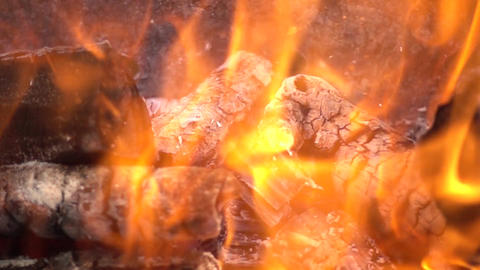 Burning Fire Splash Slow Motion Footage