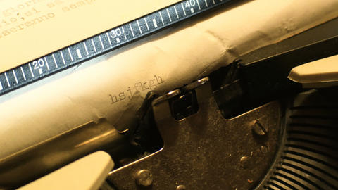 details on parts of a typewriter from the 1980s in which it was not yet the era Live Action