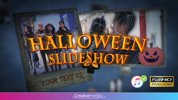 Halloween Slideshow - Apple Motion and Final Cut Pro X Template Plantilla de Apple Motion
