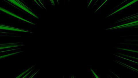 集中線 ループ - 緑 (アルファ付き) CG動画素材