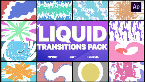 Liquid Transitions Pack After Effects Template