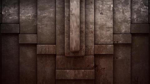 Stone Blocks Stacking Transition Animation