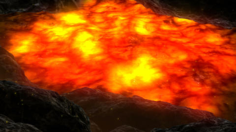 Lava Valley Scene Animation