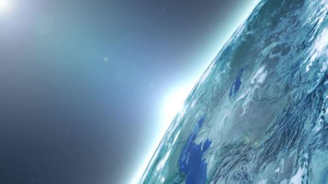 Cool Earth Planet Sequences Loop Animation