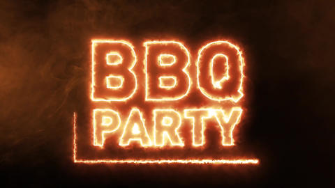BBQ Party Fire Advertisement Animation