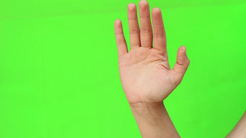 Good Bye, Waving Hand Gesture Live Action