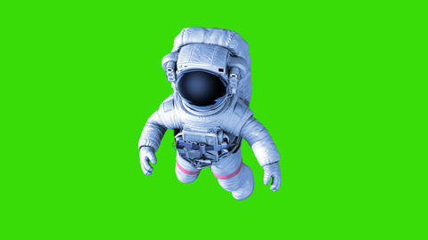 Astronaut on a Green Background Animation