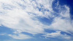 Light clouds passing, time lapse Stock Video Footage