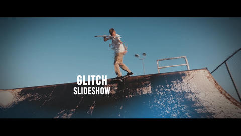 Glitch Slideshow Plantilla de After Effects