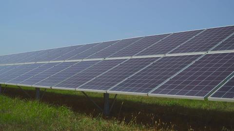 Clean renewable energy. Solar Panels Live Action