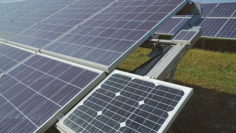 Perspective view on solar panels Live Action