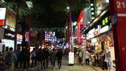 Ximen shopping area at night, Taipei, Taiwan Footage