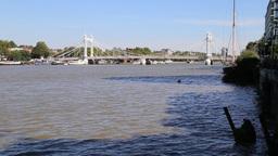 Chelsea bridge London UK Footage