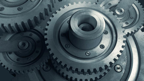 Work mechanism consisting of gears Animation