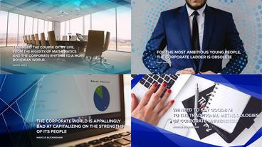 Corporate Grid Presentation stock footage