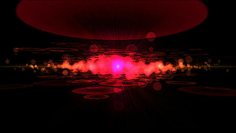 Abstract Particle Light Animation - Loop Red Animation