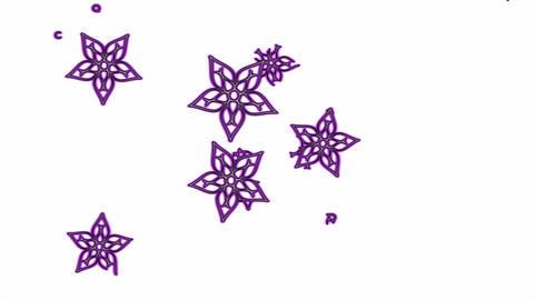 Colorful Metallic Flowers Animation - Purple Animation