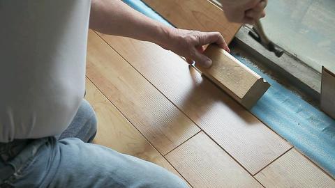 Fitting laminate flooring to ledge Footage
