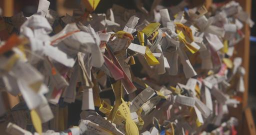 Many oracles at Asakusa shrine close shot left side Live Action