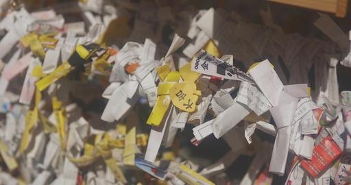 Many oracles at Asakusa shrine medium shot mild wind Footage
