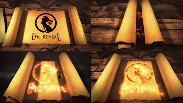 Legendary Epic Scroll Logo Reveal 애프터 이펙트 템플릿