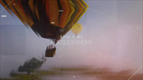 Epic Time Parallax Slideshow After Effects Template