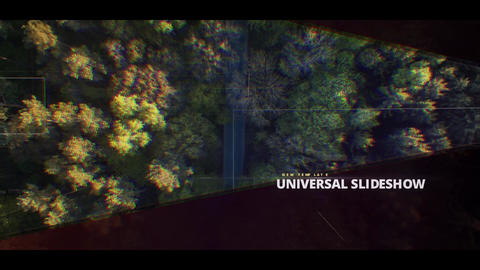 Universal Cinematic Slideshow After Effectsテンプレート