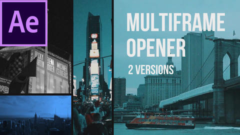 Multiframe Media Opener After Effects Template