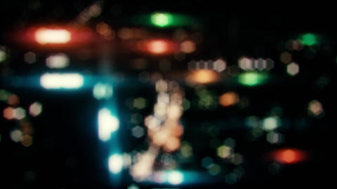 Colorful Blurred City Night Lights Loopable Motion Background V2 Animation