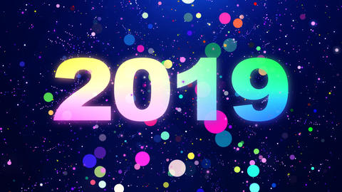 2019 New Year Countdown Particles Animation Animation