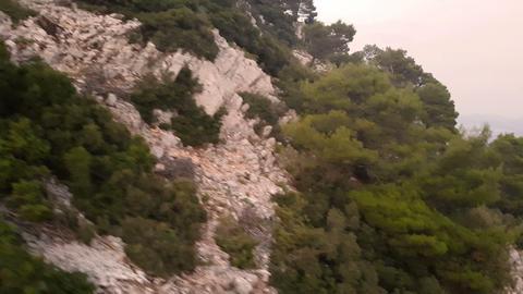 Greek - Mediterranean Mountain Forest - Aerial view Footage