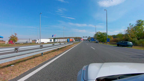 Border crossing with European union, Batrovci - Lipovci crossing between Croatia Live Action