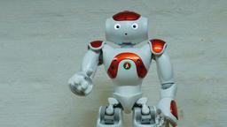 Talking humanoid robot Footage