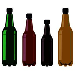 Bottles with black covers Vector