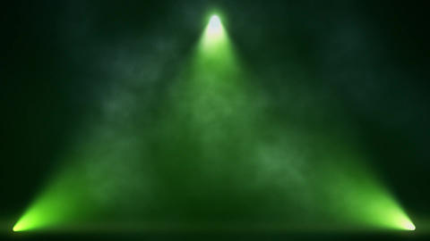 Green Triangle Stage Lights and Smoke VJ Loop Motion Background Animation