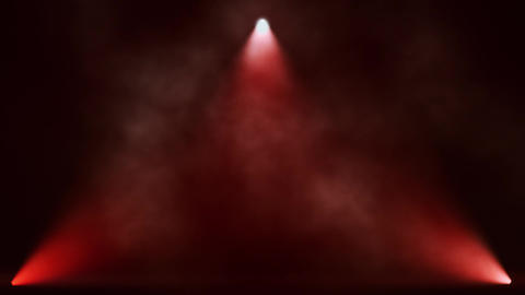 Red Triangle Stage Lights and Smoke VJ Loop Motion Background Animation