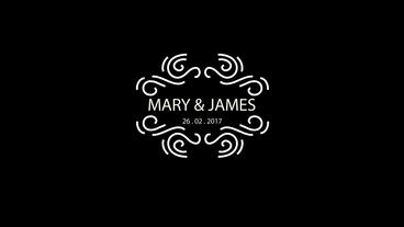 10 Wedding Titles Vintage Badges V16 After Effects Template