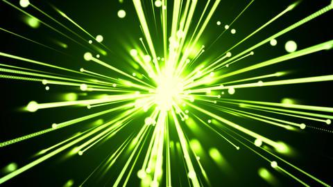 Star Burst Light Streaks Green Animation